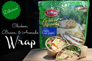 Chicken, Bacon, Avocado Wraps with Tyson Grilled & Ready Chicken