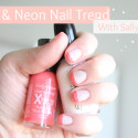 Nude & Neon Nail Trend with Sally Hansen