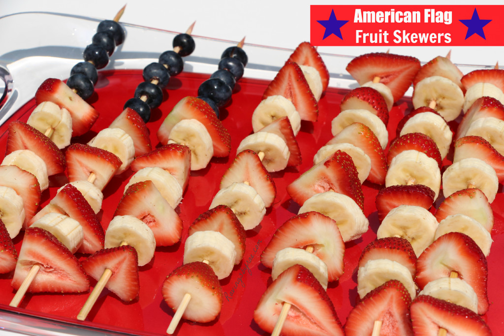 American Flag Fruit Skewers #MyMarianos #Cbias