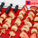 American Flag Fruit Skewers #MyMarianos #Cbias