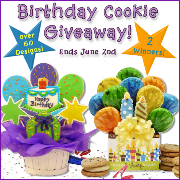 Birthday Cookie Giveaway Ends 6/2/13