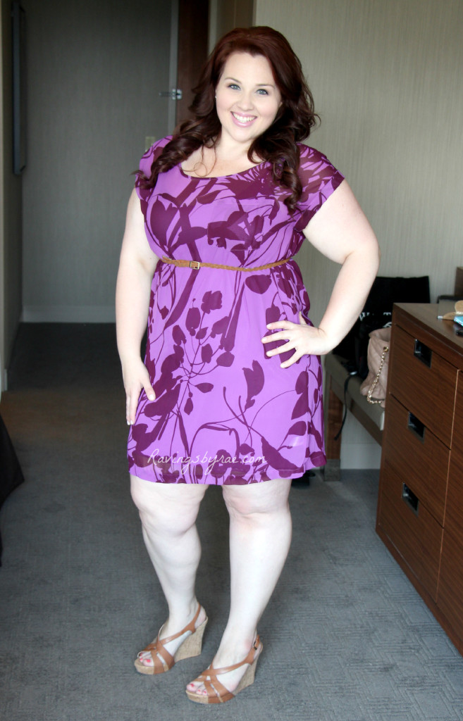 Plus Size OOTD Casual Purple Party Dress 3