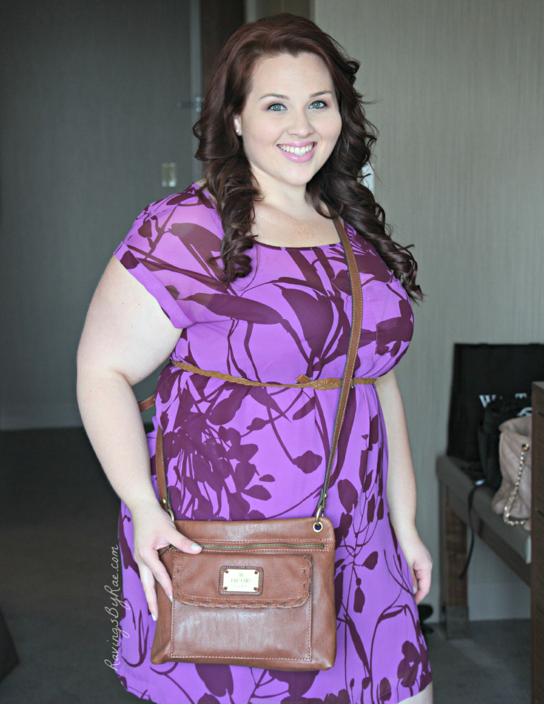 Plus Size OOTD Casual Purple Party Dress