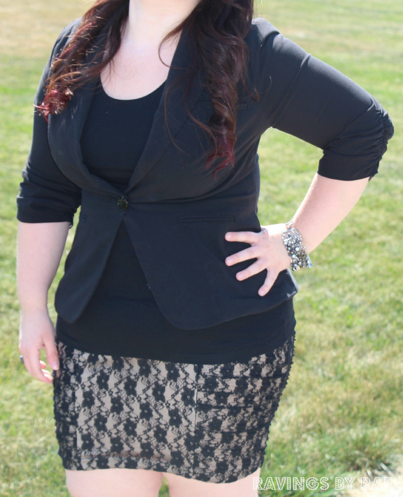 1 Plus Size OOTD Lace and Blazer