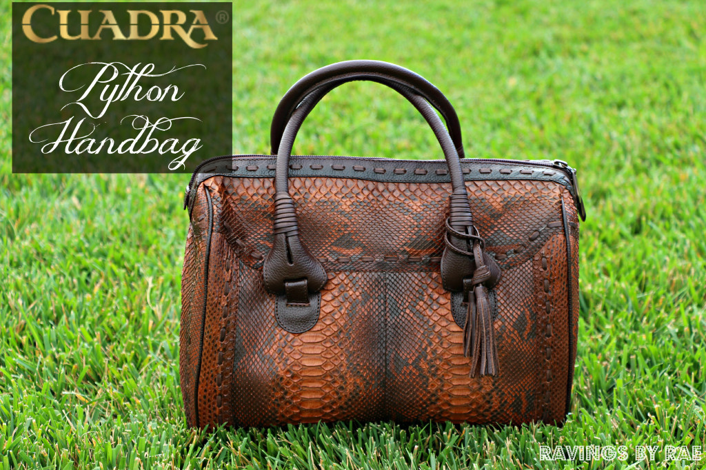 Genuine Python Handbag from CUADRA
