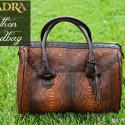 Genuine Python Handbag from CUADRA