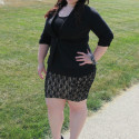 Plus Size OOTD Lace and Blazer