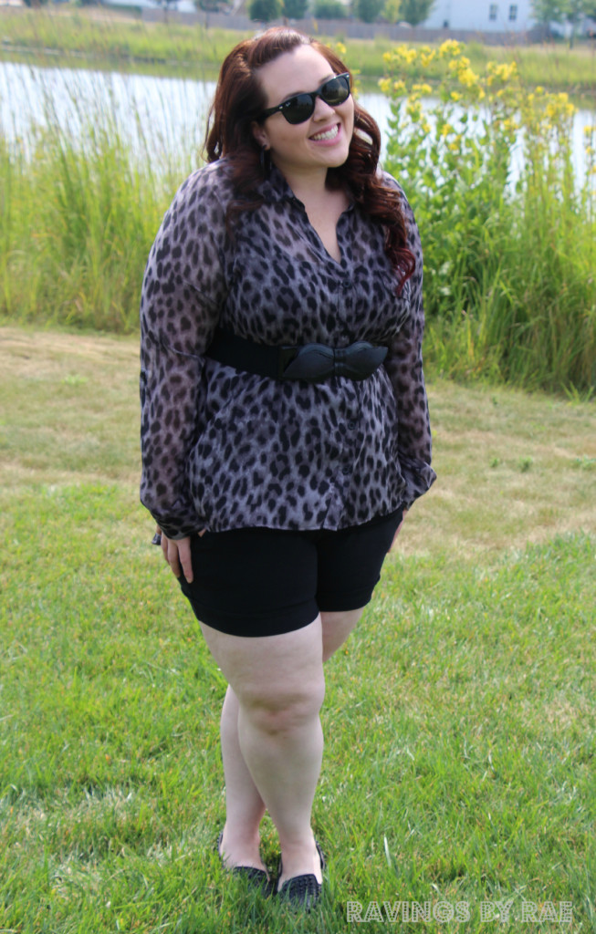 Plus Size OOTD Leopard and Shorts 4