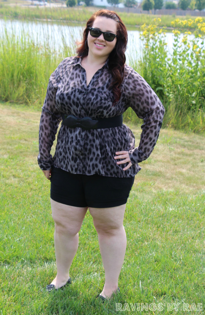 Plus Size OOTD Leopard and Shorts 5