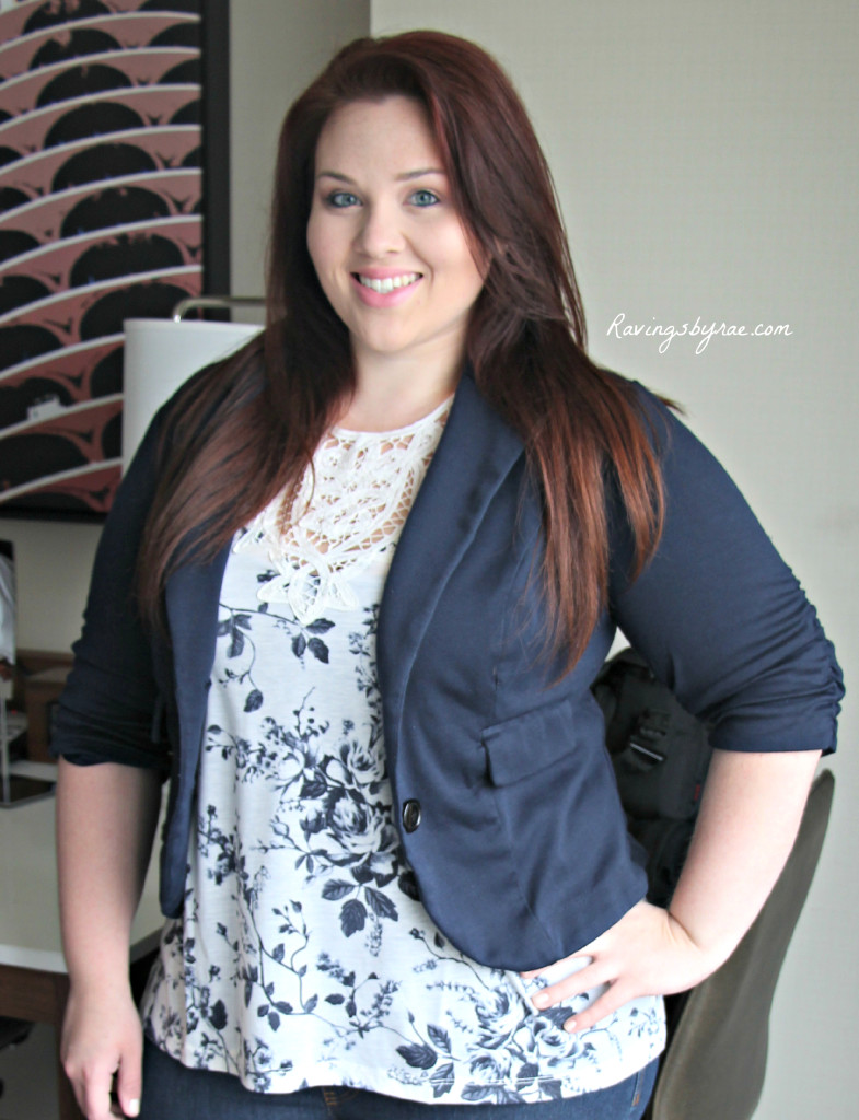 Plus Size OOTD Navy Blazer and Jeans 2
