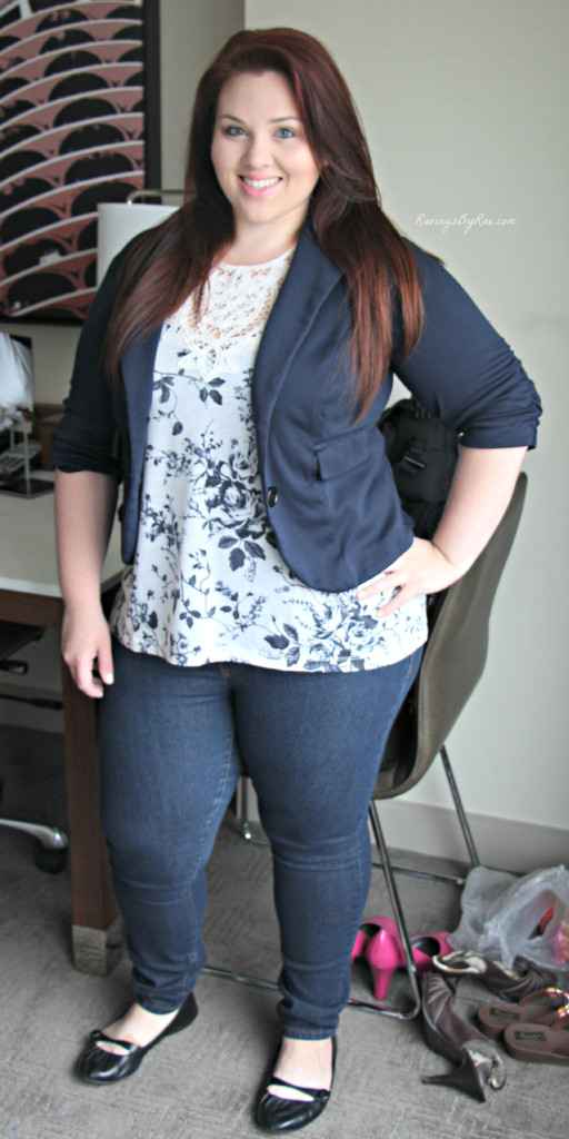 Plus Size OOTD: Navy Blazer and Jeans - Sarah Rae Vargas