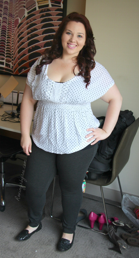 Plus Size OOTD Polka Dot Blouse & Loafers
