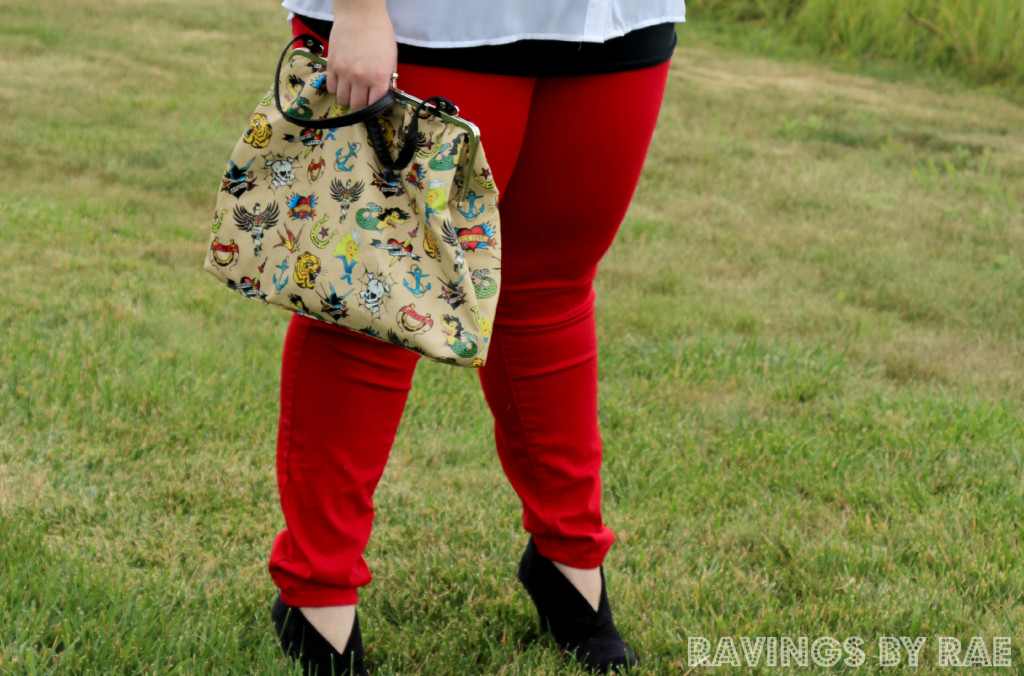 Plus Size OOTD: Rhinestone Collar and Red Skinny Jeans - Sarah Rae ...
