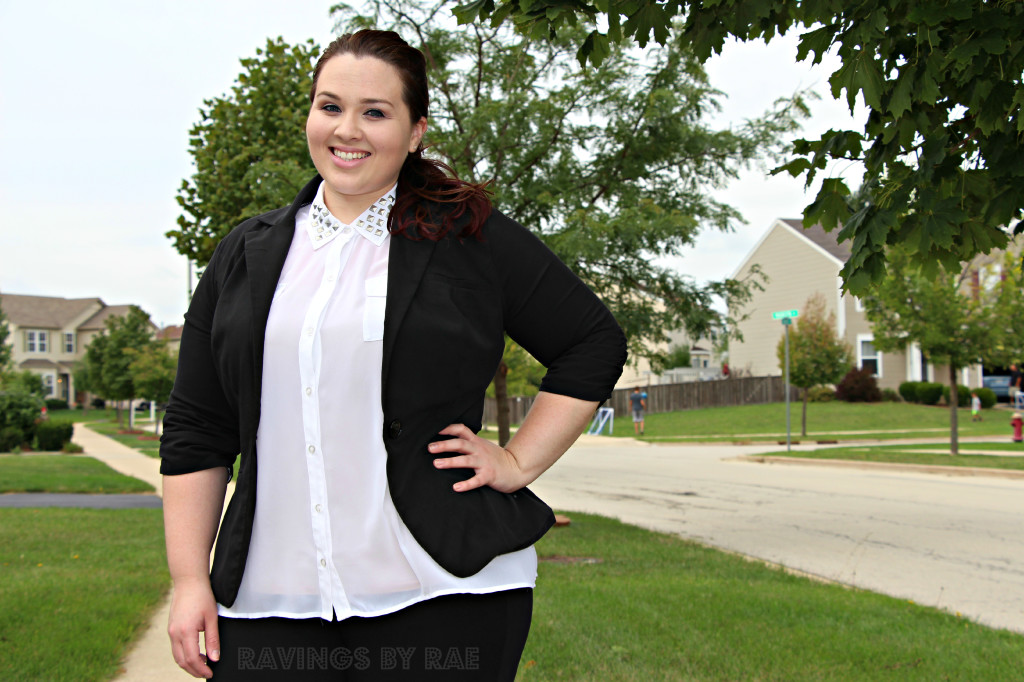 Plus Size OOTD Black & White Trend 7