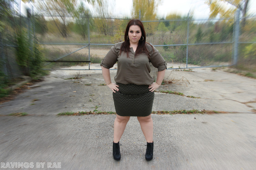 Plus Size OOTD Military Inspired 4
