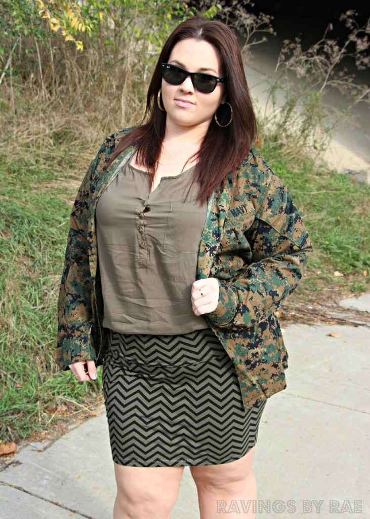 Plus Size OOTD Military Inspired 8