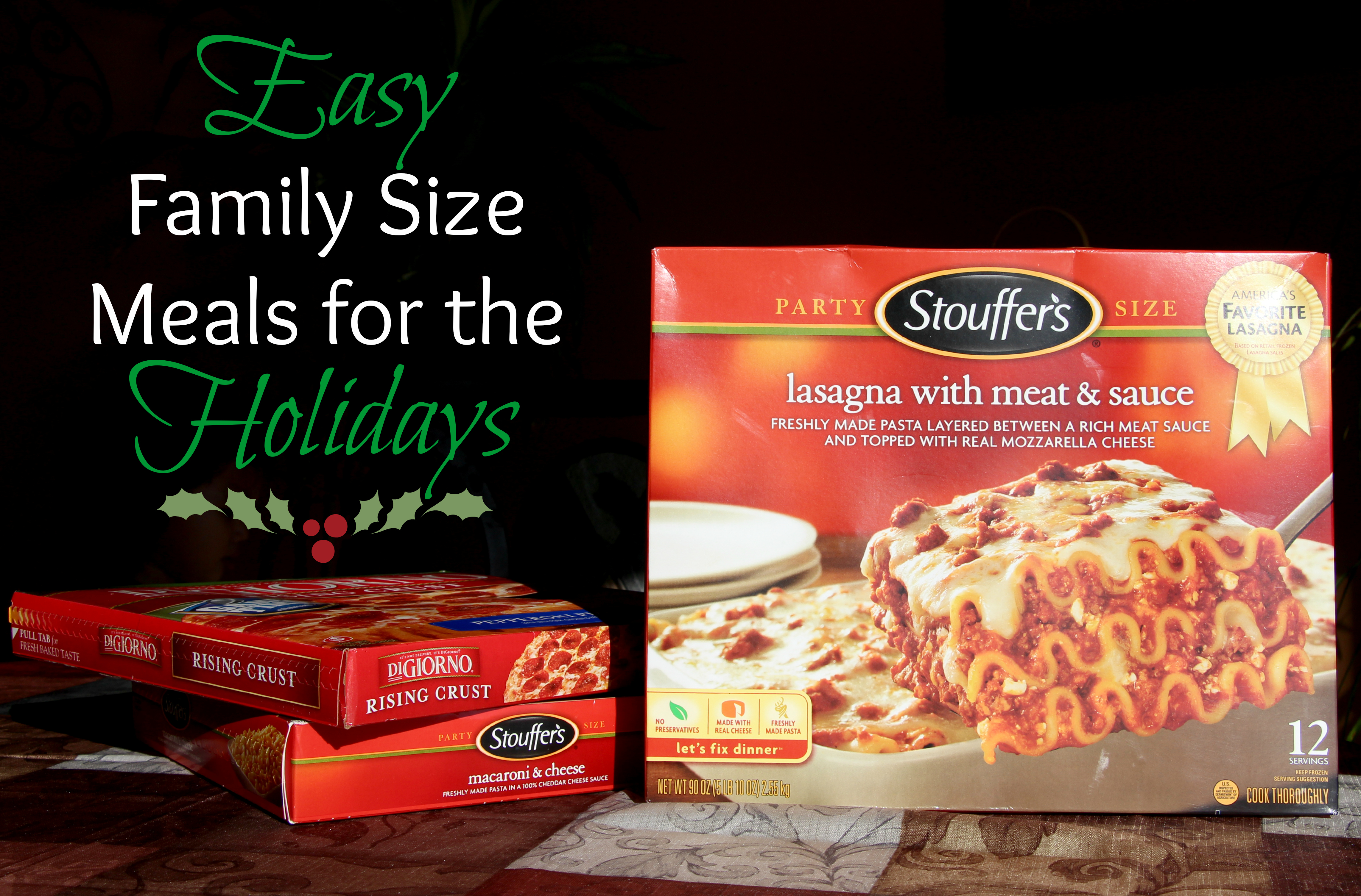 Easy Family Size Meals for the Holidays #shop