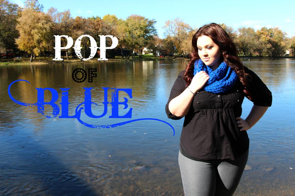 Plus Size OOTD Pop of Blue 6