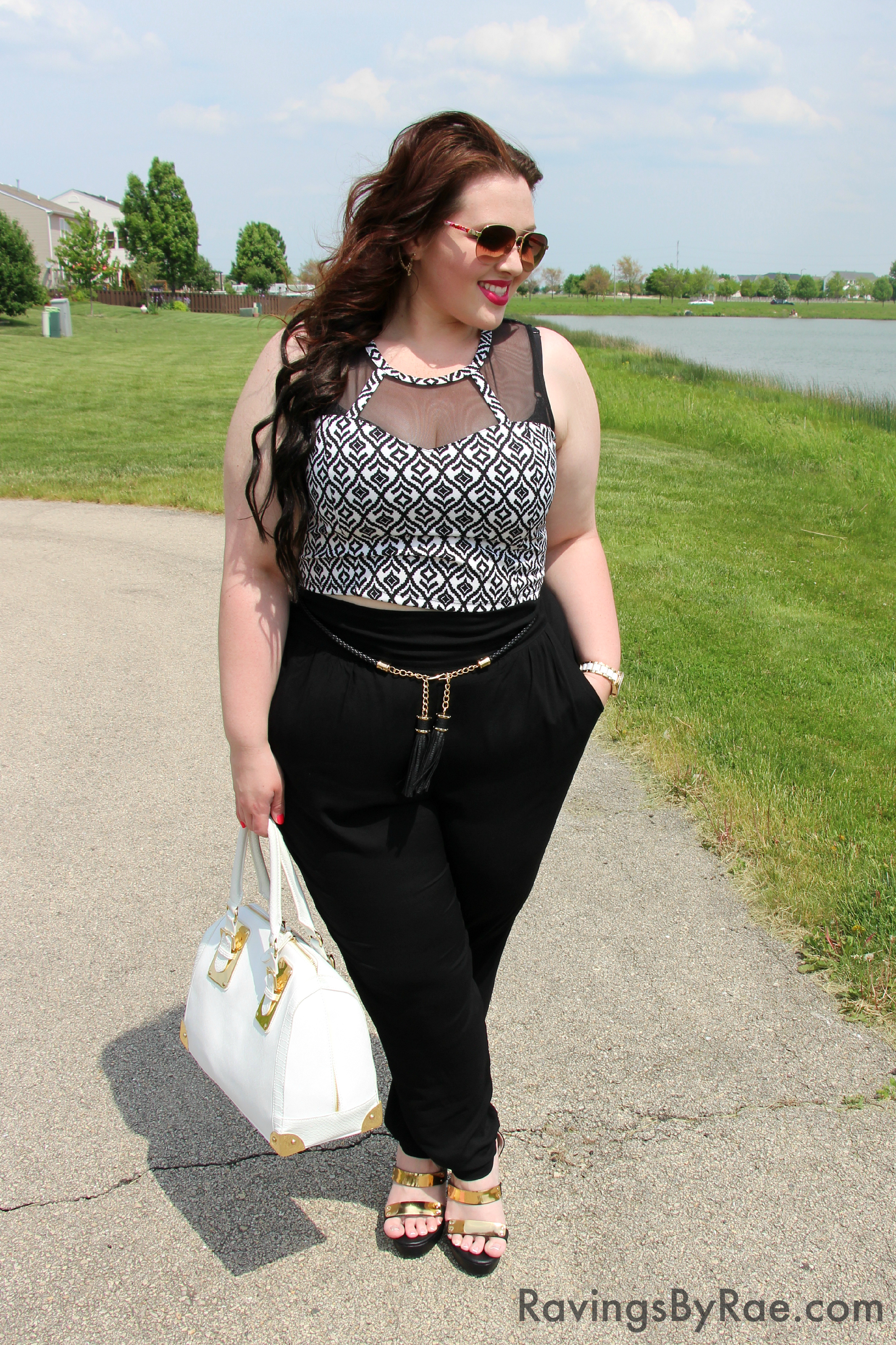 Plus Size OOTD Crop Top & Living Doll LA 1