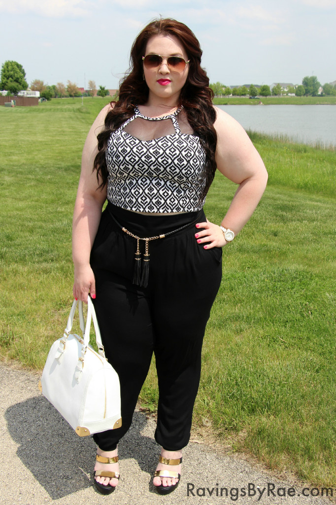 Plus Size OOTD Crop Top & Living Doll LA  4
