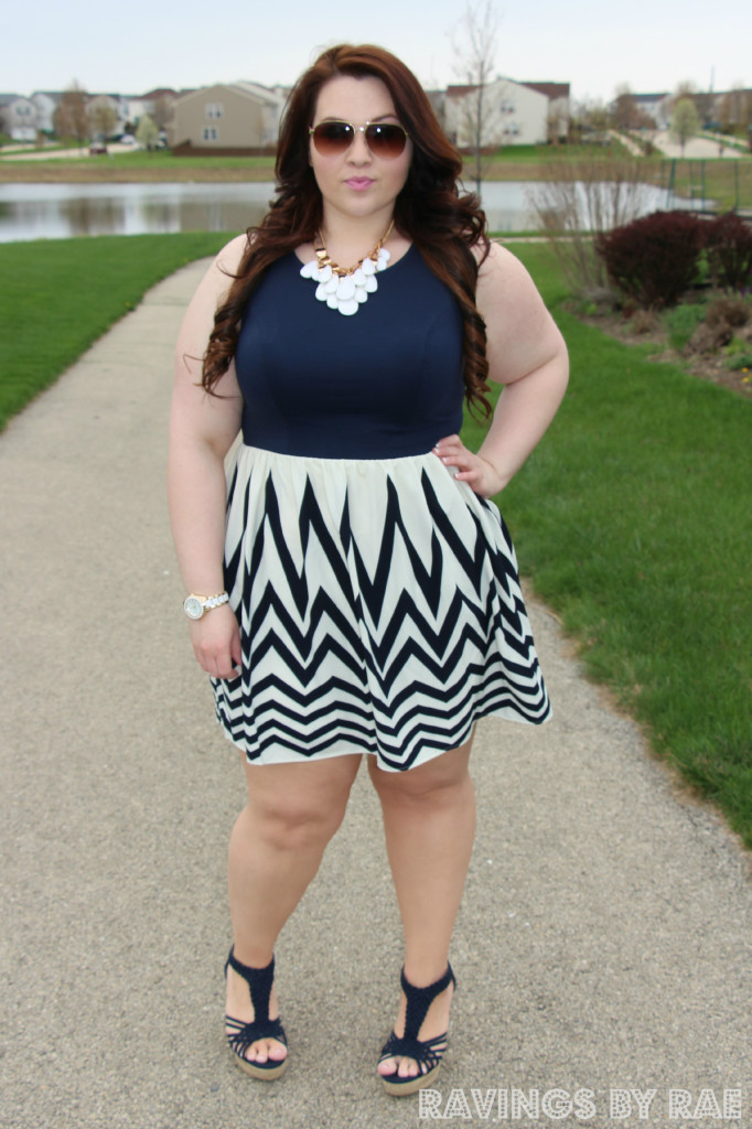 Plus Size OOTD Navy Graduation Dress 2