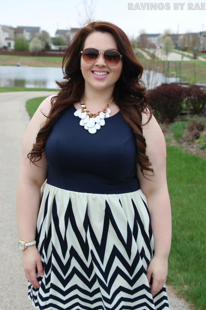 Plus Size OOTD Navy Graduation Dress