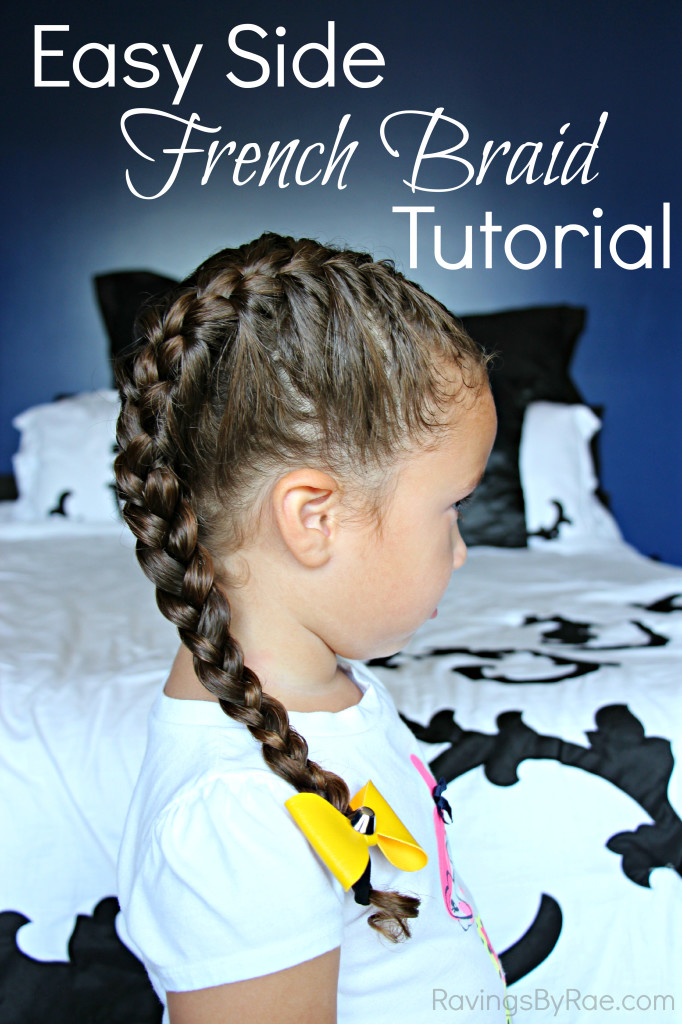 How I Manage My Kids' Thick and Curly Hair + French Braid Tutorial #NoMoreTangles