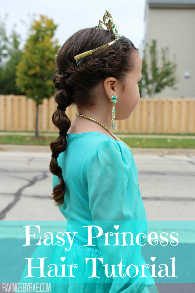 Easy Princess Bubble Braid Hair Tutorial