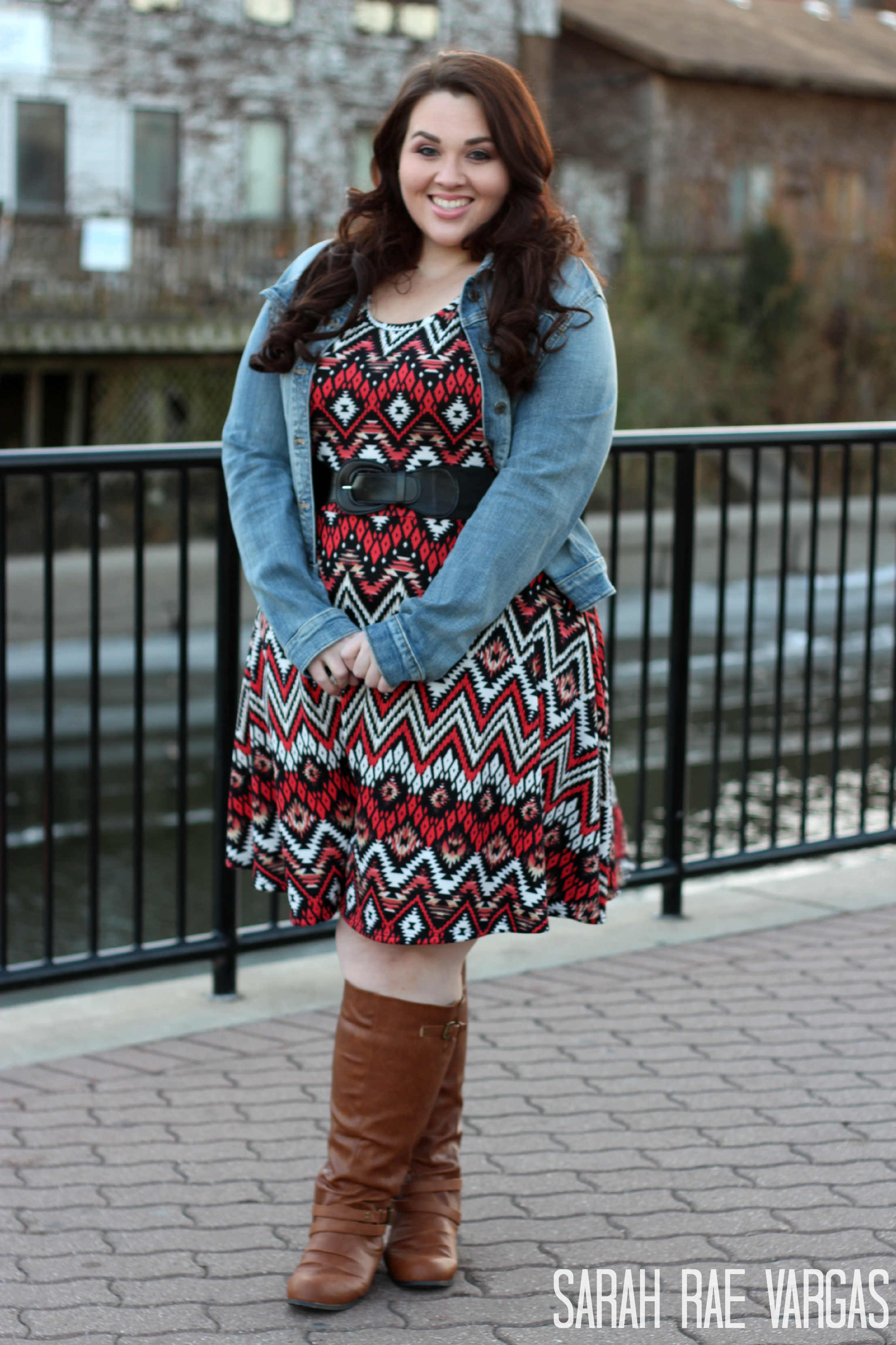 Plus Size Wearing Tall Boots Holiday Dresses